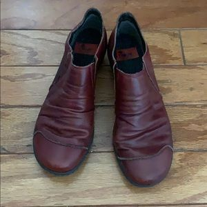 """Rieker """"Louise"""" pleated leather slip ons"""